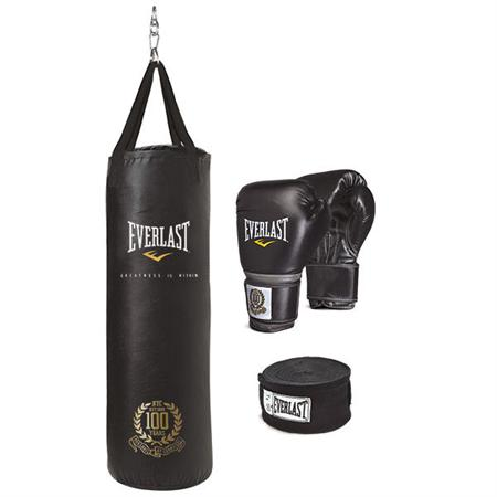 100th Anniversary Heavy Bag and Glove Set